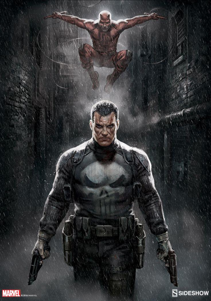 Punisher/ Daredevil Marvel Knights Sideshow Print by bigmac996.deviantart.com on @DeviantArt
