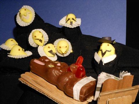 """Rembrandt's Anatomy Lesson of Dr. Peep,"" Pioneer Press Peeps diorama contest 2012"