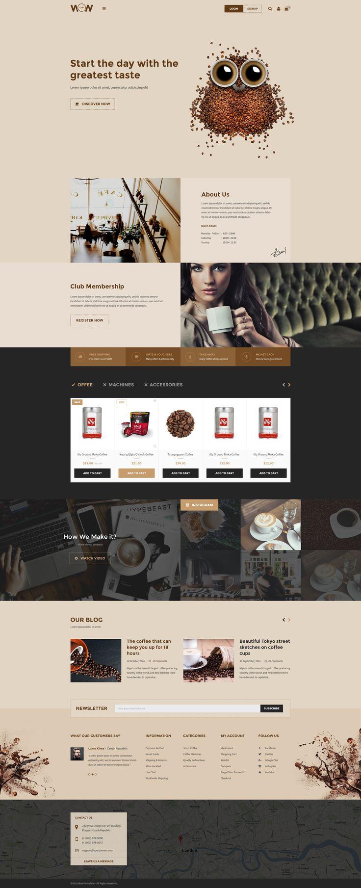 Wow! Multi-purpose E-commerce Template Coffee Shop Homepage 02