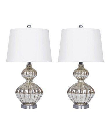 This Silver Mercury Table Lamp Set Of Two Is Perfect Zulilyfinds