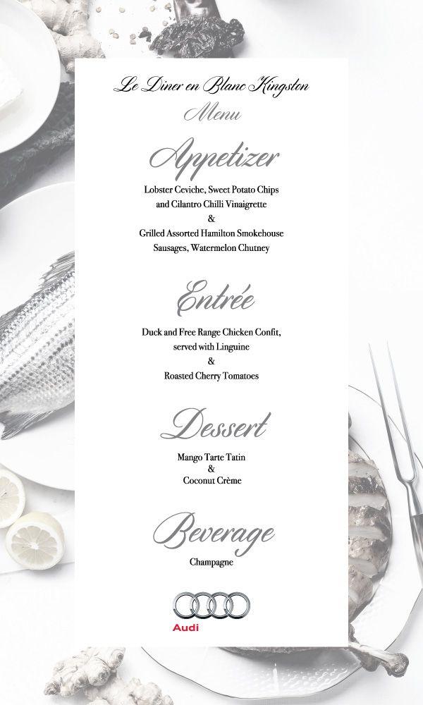 Le Diner En Blanc Menu More