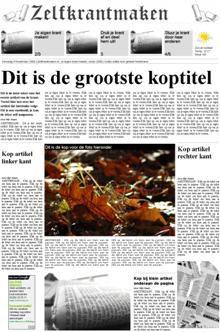 Zelf online je eigen krant maken - zelfkrantmaken.be Als variatie op nieuwsindeklas.nl
