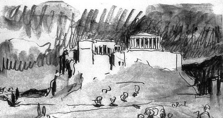 Dibujo de Le Corbusier de la Acrópolis, 1911
