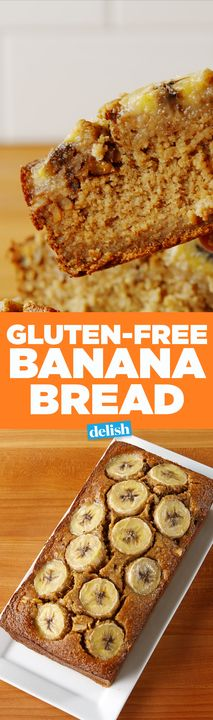 You won't believe that this Banana Bread is entirely gluten-free. Get the recipe from Delish.com.