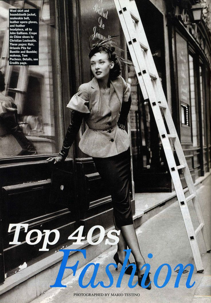'Top 40s Fashion' from………..Allure January 1995 feat Nina Brosh & Chrystele Saint Louis Augustin