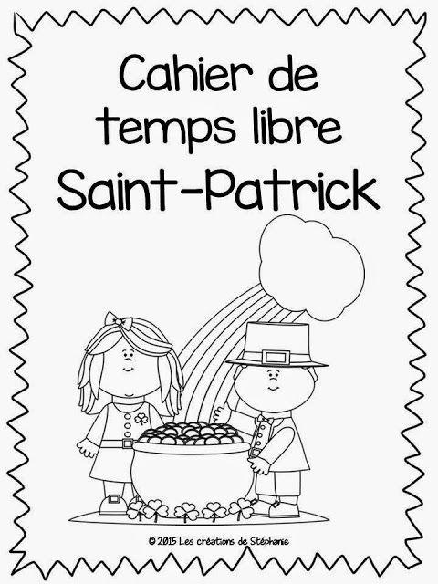 Les créations de Stéphanie: Cahier de temps libre pour la fête de la Saint-Patrick