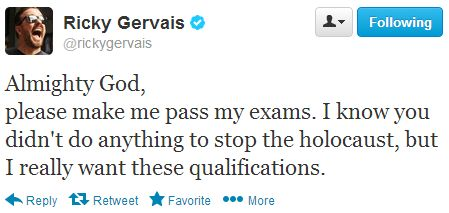 Ricky Gervais on passing exams