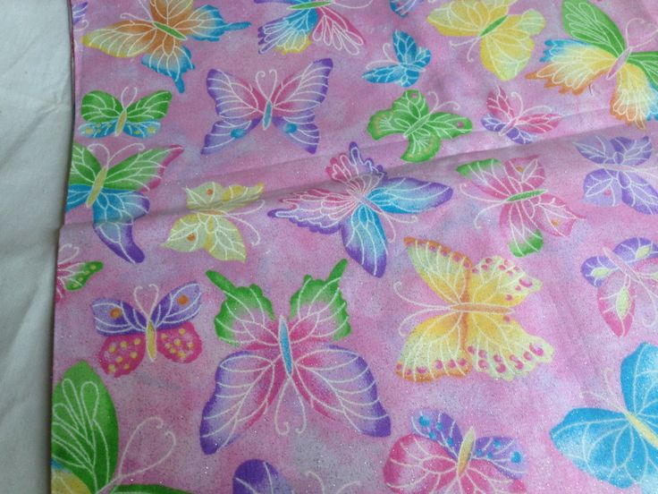 BB012. Fabric Traditions, N.T.T., is a beautiful coulourful butterfly material by TheQuiltedCheese on Etsy