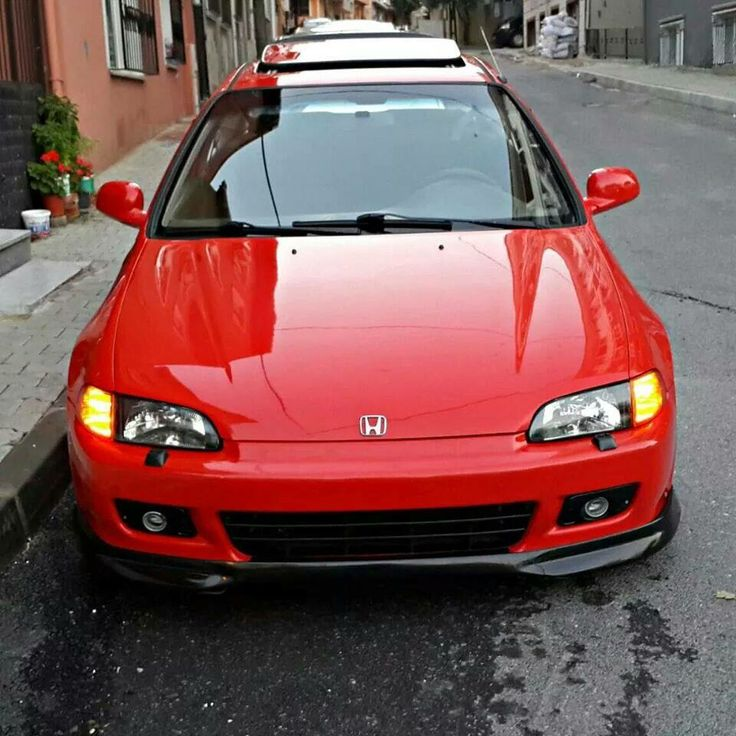 #honda #civic #eg6 #red #d16a9