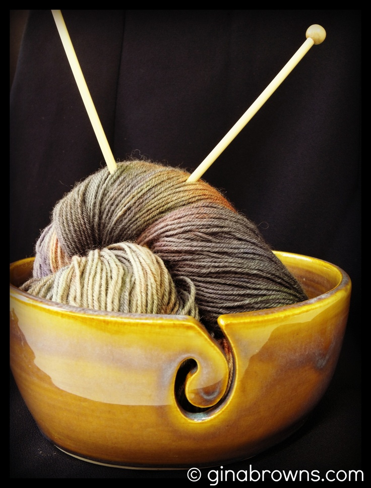 *Sorry knitters! This bowl has sold.* This cute yarn bowl is perfect for my next project!