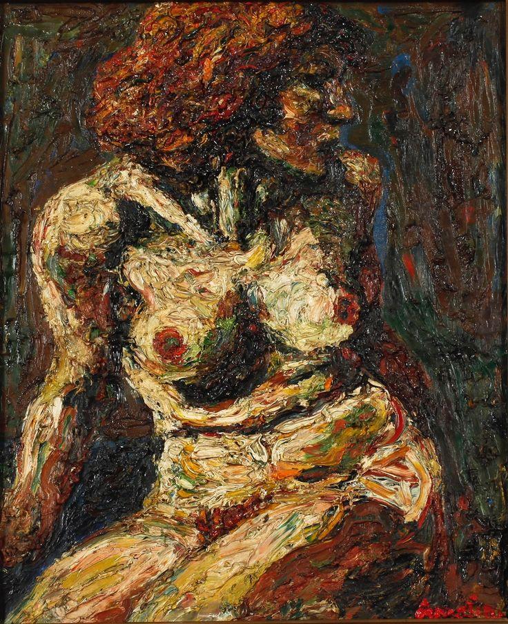 "terminusantequem:  ""Albin Amelin (Swedish, 1902-1975), Female model, 1927. Oil on canvas, 73 x 60 cm  """
