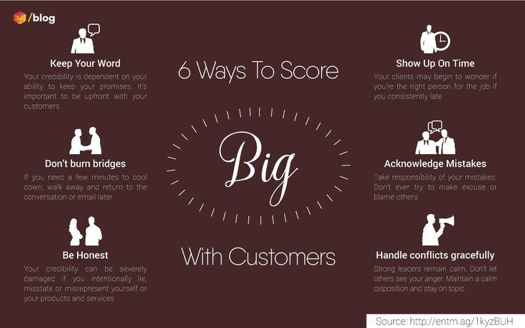 6 ways to score big with customers #SCOREBIG #customer