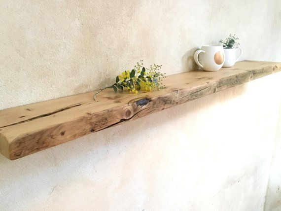 new arrival 15ca9 e1d99 Floating Wood Shelves Recycled Timber Scandi Home Reclaimed ...
