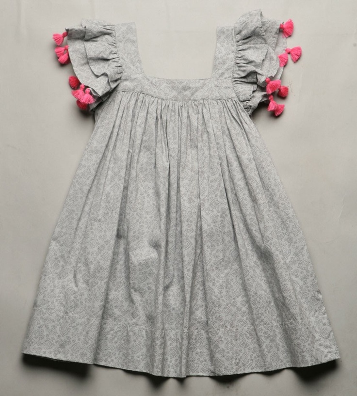dress with double flutter sleeves