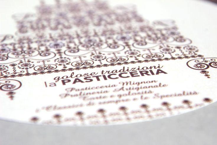 """invitation card for the pastry """"Golose tradizioni"""" by CREA OFFICINA"""