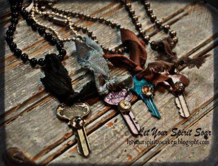 Painted Key Necklaces - JUNKMARKET Style