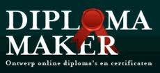 Met deze site kun jezelf allerlei leuke diploma's maken.