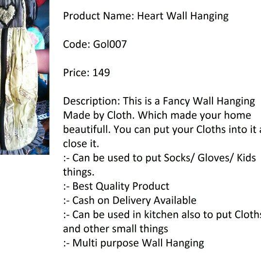Hear wall hanging.. Order on watts app:-9015475588