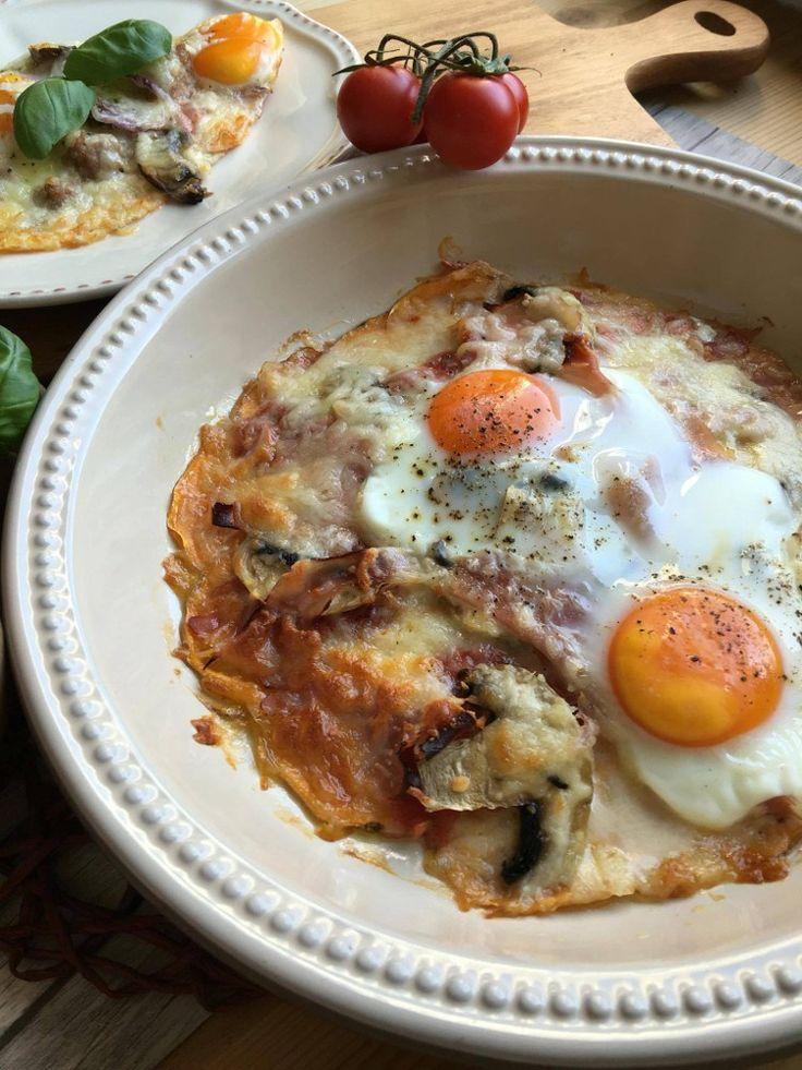 Low Carb Pizza  Rezept wenig Kalorien mit Süßkartoffel-Boden kalorien-arm nur 15 Gramm Kohlenhydrate