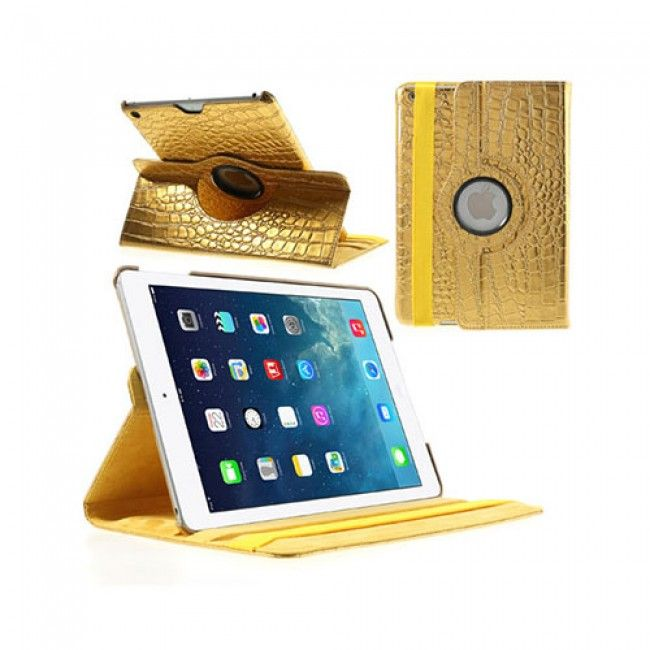 Disco (Kulta) iPad Air Nahkakotelo - Ilmainen Toimitus! - http://lux-case.fi/catalog/product/view/id/23914/s/disco-kulta-ipad-air-nahkakotelo/category/19355/