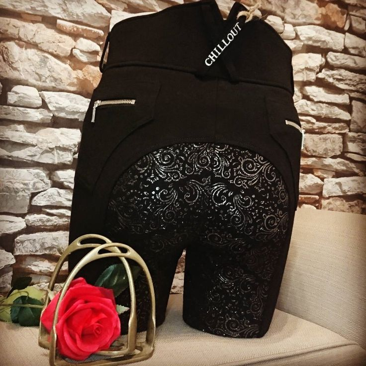 Gorgeous sparkly breeches now in stock at Lofthouse Equestrian from top selling brand Chillout Horsewear! | Stunning black breeches with full silicone seat with added glitter/sparkle on the seat | ONLY £79.99 | Quick delivery | Easy returns | Stay on Trend with these gorgeous black breeches