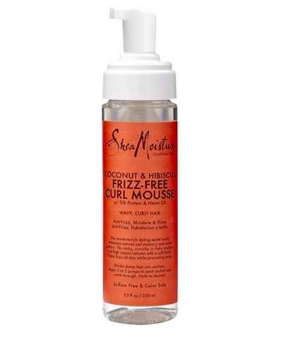 SheaMoisture Coconut & Hibiscus Frizz-Free Curl Mousse, $9.99.