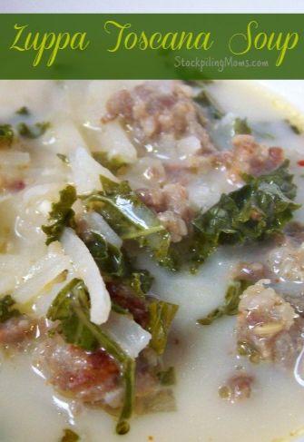 Copycat Olive Garden Crockpot Zuppa Toscana Soup