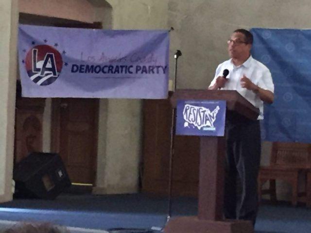 Keith Ellison at Resistance Summer Los Angeles (Joel Pollak / Breitbart News)
