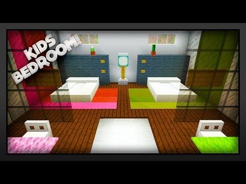 MInecraft - How To Make A Kids Bedroom - YouTube