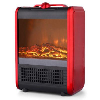 PRFH Ceramic Mini Fireplace 750/1,500 Watt Portable Electric Heater
