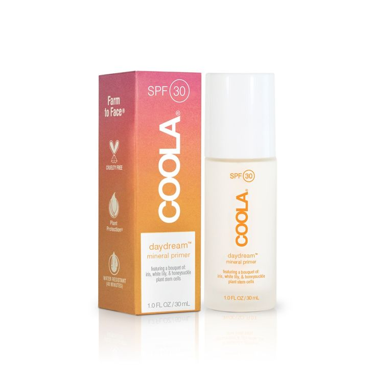 COOLA+Daydream+SPF+30+Mineral+Makeup+Primer+-+Honeysuckle+&+Zinc+Oxide+protect+and+prep+when+you+use+this+lightweight+primer.+Perfect+for+everyday+use,+this+unique+formula+is+over+70%+organic,+water+resistant,+cruelty+free,+and+infused+with+a+variety+of+antioxidants+to+combat+those+nasty+free+radicals.+