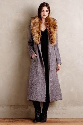 Elevenses Collared Boucle Coat: