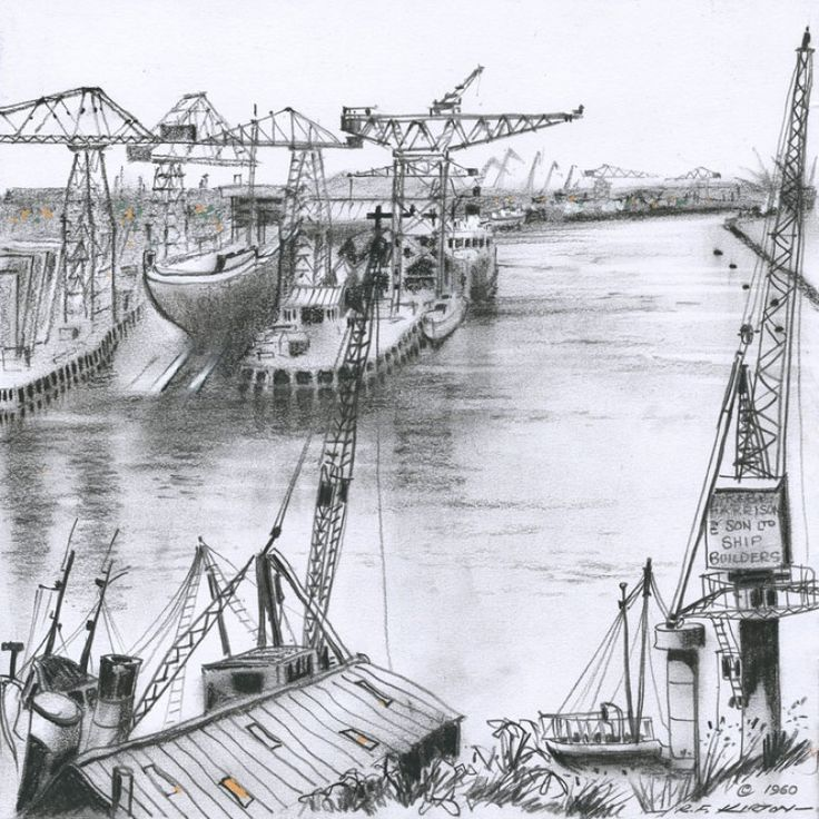 Life on the Tyne signed limited edition print by Roy Francis Kirton