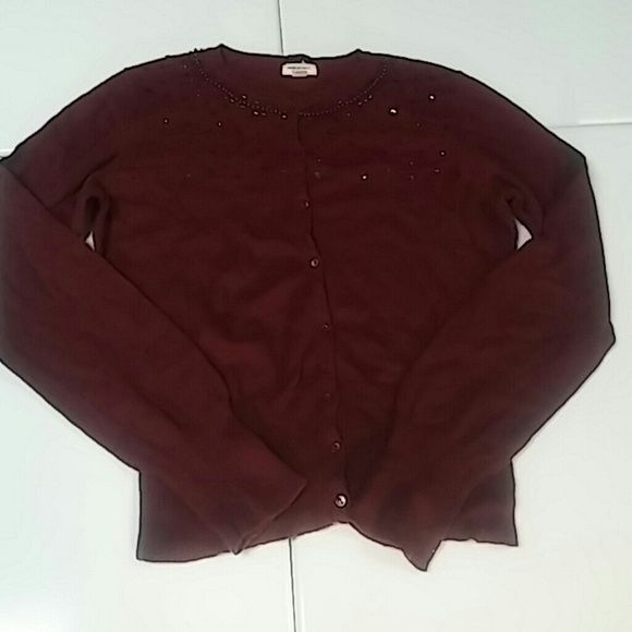 AE maroon cardigan Bundle add-on item American Eagle maroon cardigan size L American Eagle Outfitters Sweaters Cardigans
