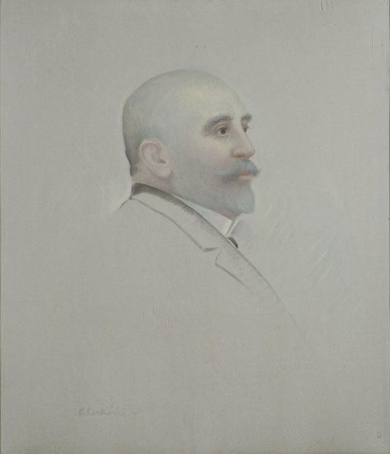 'Portrait of P. Papathanasiou', Oil On Canvas by Konstantinos Parthenis (1878-1967, Egypt)