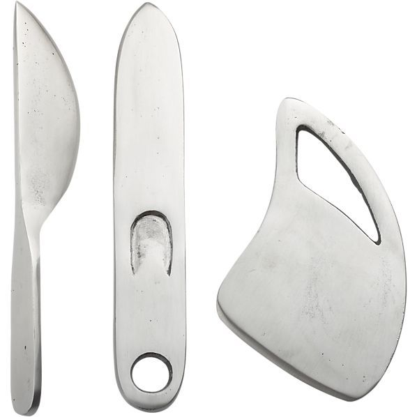 3-Piece Farmhouse Cheese Knife Set in Specialty Serveware | Crate and Barrel