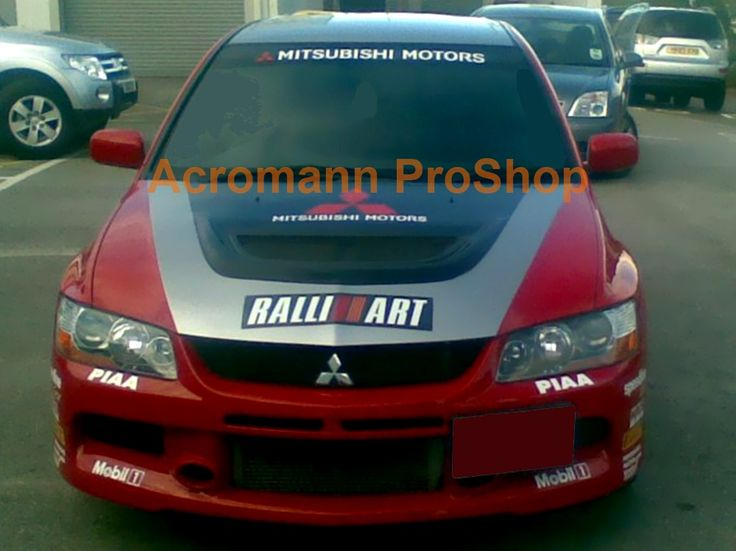 Mitsubishi Motors (new style) Medium Bonnet Decal x 1 pc