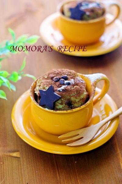 ホットケーキミックスHMで簡単2分お菓子♪チョコバナナのマグカップケーキ☆ノンオイル&ノンエッグ夏休みにも