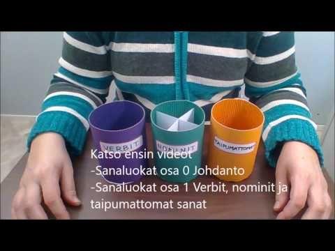 Sanaluokat osa 1 Verbit, nominit ja taipumattomat sanat - YouTube