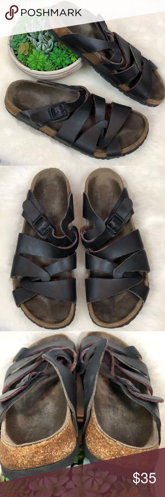 •Birkenstock• Tatami Sandals Slides Sz 40 US 9 Gorgeous Sandals!!! Birkenstock Tatami Slides US Women's Size 9. Euro 40. These are a deep cherry wood color nearly black. Have been worn as photons show but still plenty of life left as these are quality made in Germany!! Smoke free home!! Birkenstock Shoes Sandals
