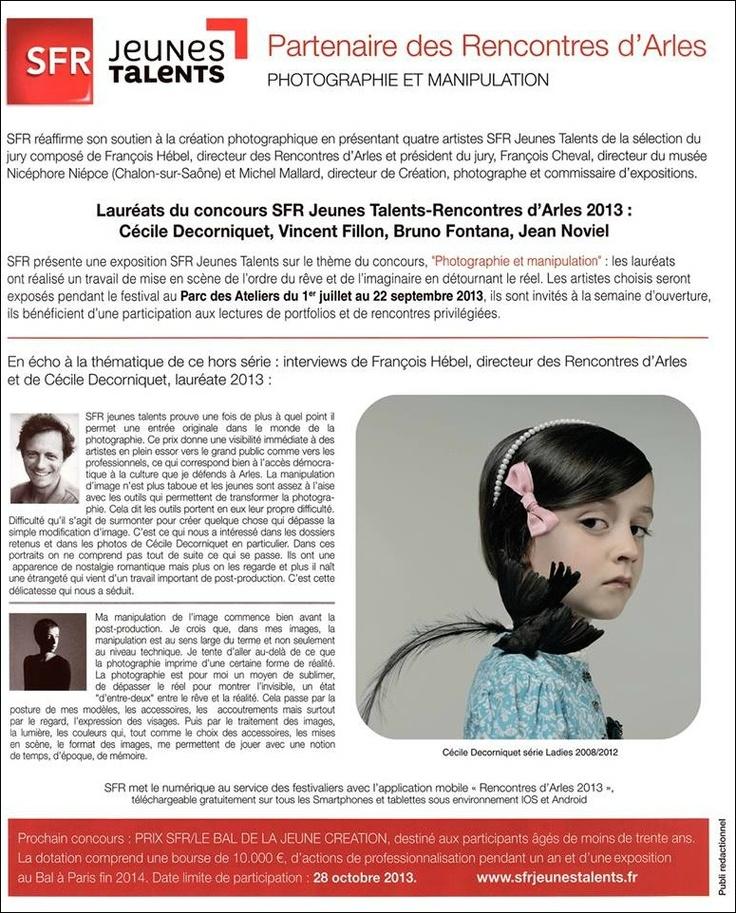 Photographie et Manipulation - SFR Jeunes Talents-Rencontres d'Arles 2013. Lauréate : Cécile Decorniquet.