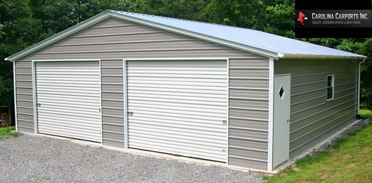 Enclosed Shop 10x8 Roll Up Doors Metal Buildings Prefab Metal Garage Metal Garages