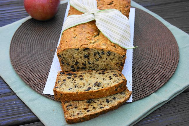 The Kitchen is My Playground: Apple Currant Bread... Fresh apple.  Sweet currants.  Just a hint of cinnamon.  The crunch of chopped pecans.  Isn't that the perfect blend of fall flavors? ...