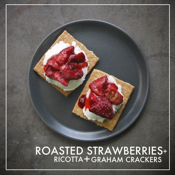 Roasted Strawberries + Ricotta + Graham Crackers // shutterbean