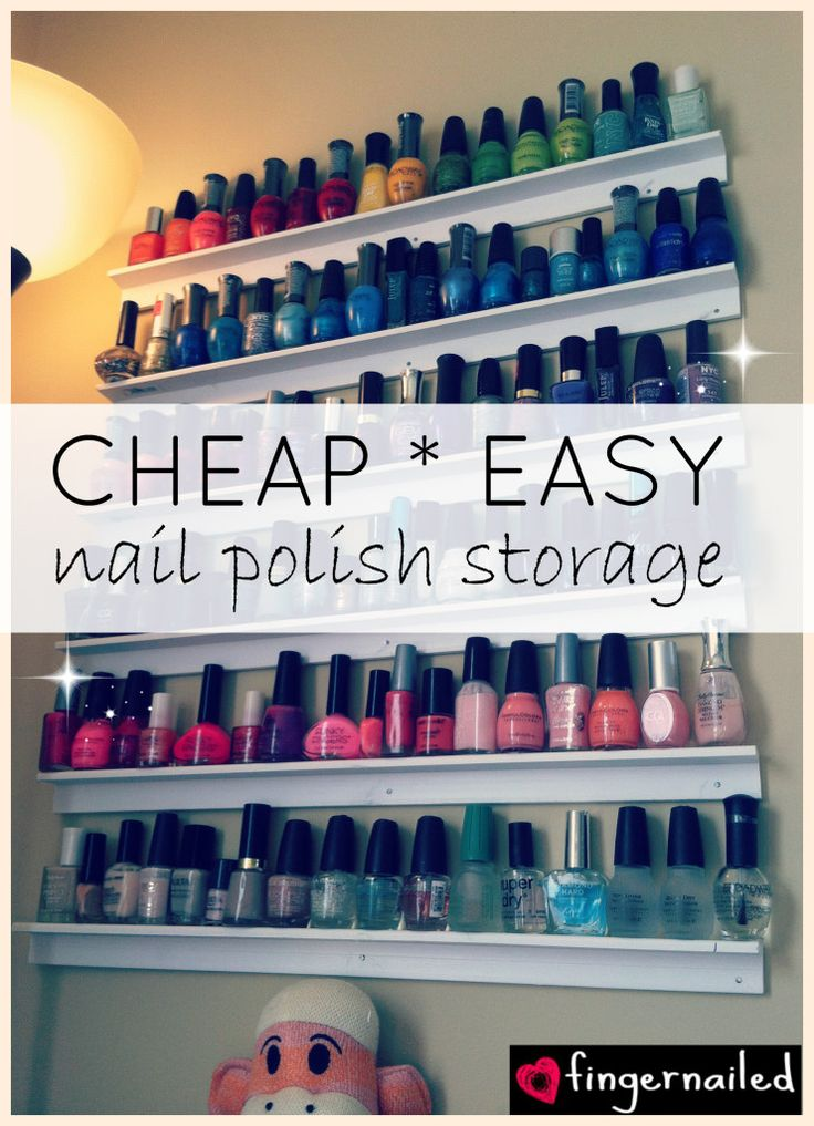 17 best ideas about organizing nail polish on pinterest organize nail polish storing nail. Black Bedroom Furniture Sets. Home Design Ideas