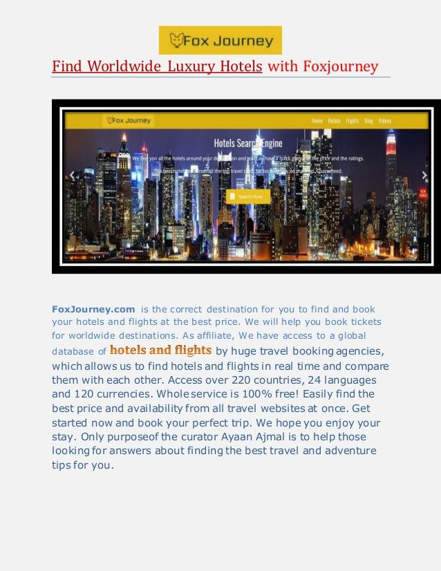 If you're planning a trip to New York, Find Hotels prices on FoxJourney.com. We provide hotel Search Engine in New York City, New York, United States.
