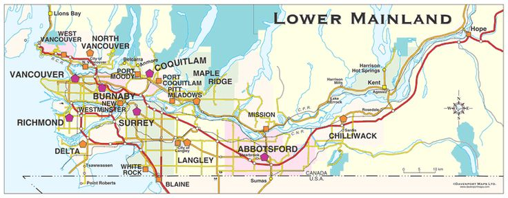 Map of Abbotsford