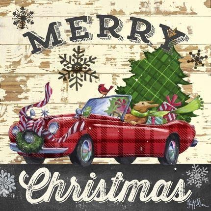 Christmas Plaid-Sports Car by Geoff Allen   Ruth Levison Design