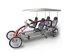 4 Person Roadster Bicycle Save Fuel And Ride As A Family This