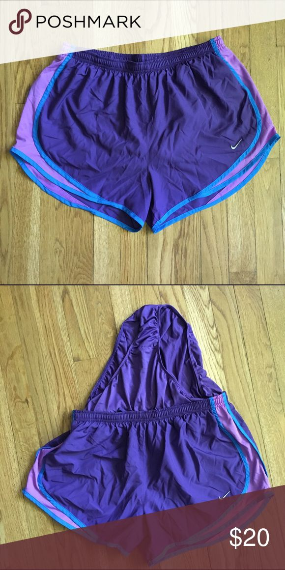Nike Dri-Fit Shorts  Nike dri-fit shorts with built in underwear! Shorts have not been worn without regular underwear. Super cute shorts, great for working out or just hanging out. Great gently loved condition!   No trades or modeling  Smoke free but pet friendly home  Please use offer button, no low balls!  Bundle 2+ items for a 10% discount!  Nike Shorts